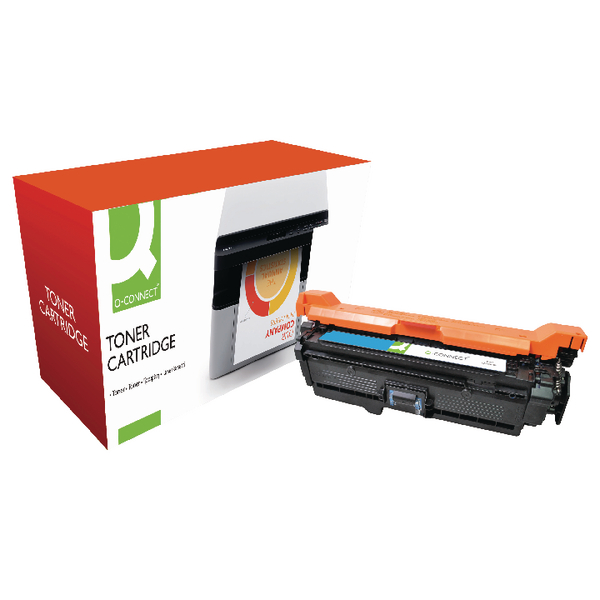 Q-Connect HP 504A Reman Cyan LaserJet Toner Cartridge CE251A