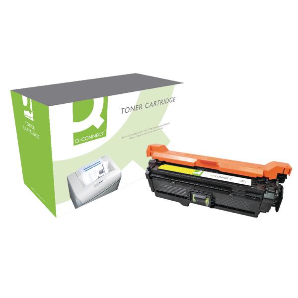Q-Connect HP 504A Reman Yellow LaserJet Toner Cartridge CE252A
