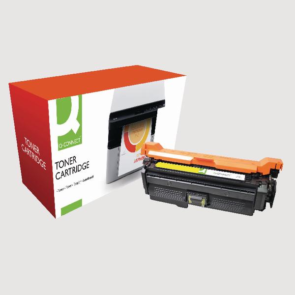 Q-Connect HP 648A Reman Yellow LaserJet Toner Cartridge CE262A