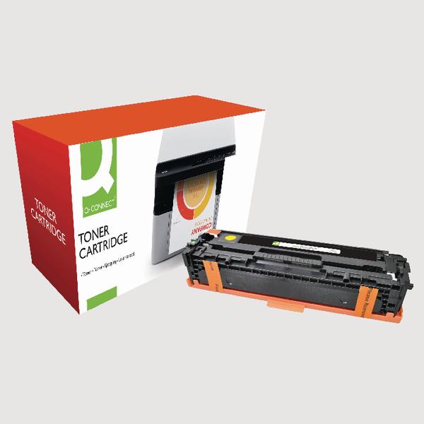 Q-Connect HP 128A Reman Yellow LaserJet Toner Cartridge CE323A