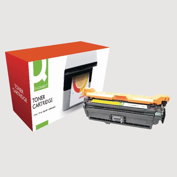 Q-Connect HP 507A Reman Yellow LaserJet Toner Cartridge CE402A