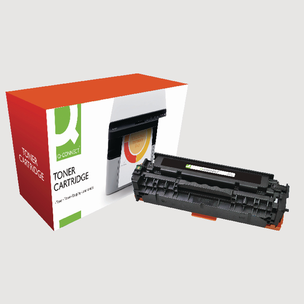 Q-Connect HP 305A Reman Black LaserJet Toner Cartridge CE410A