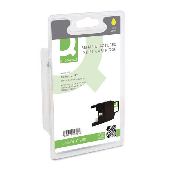 Q-Connect Brother Remanufactured Yellow Inkjet Cartridge LC1240Y