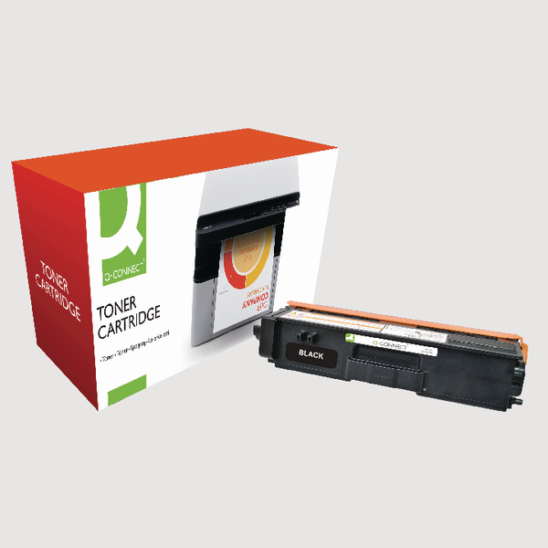 Q-Connect Brother Remanufactured Black Toner Cartridge TN320BK