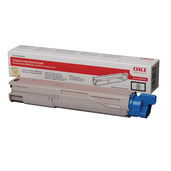 Oki Black Toner Cartridge 43459436