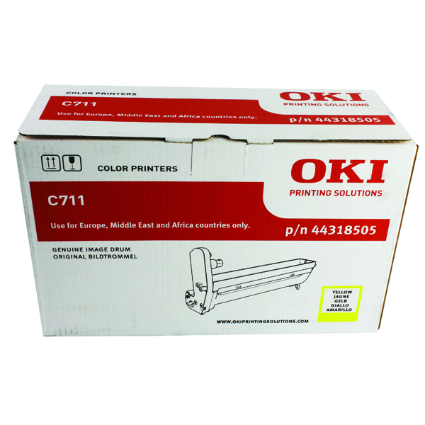 Oki C711 Yellow Image Drum 20K 44318505