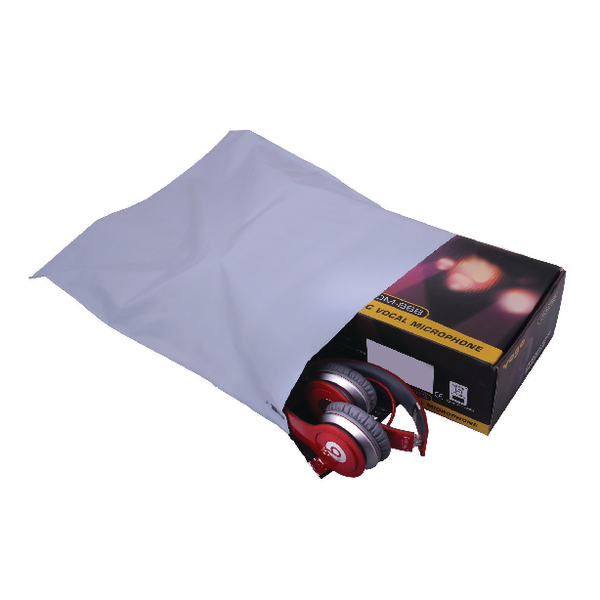 GoSecure Lightweight Polythene Envelopes 335x430mm Polythene Envelope (Pack 100)