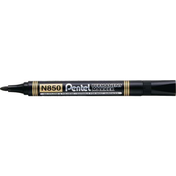 Pentel N850 Permanent Bullet Black Marker N850-AE