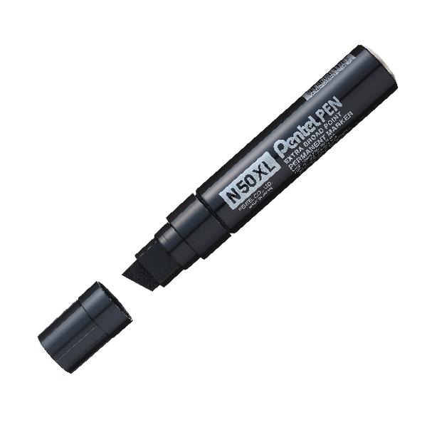 Pentel M180 Chisel Tip Black Jumbo Marker (6 Pack) M180/6-A