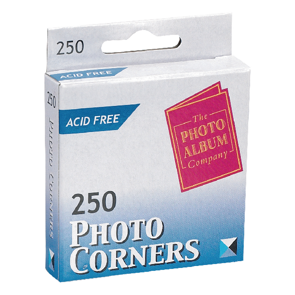 Image for Photo Album Company Photo Corners White (Pack of 250) PC250