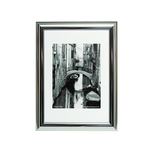 Photo Album Company A4 Silver Chrome Certificate Frame PILA4SHIN-NG