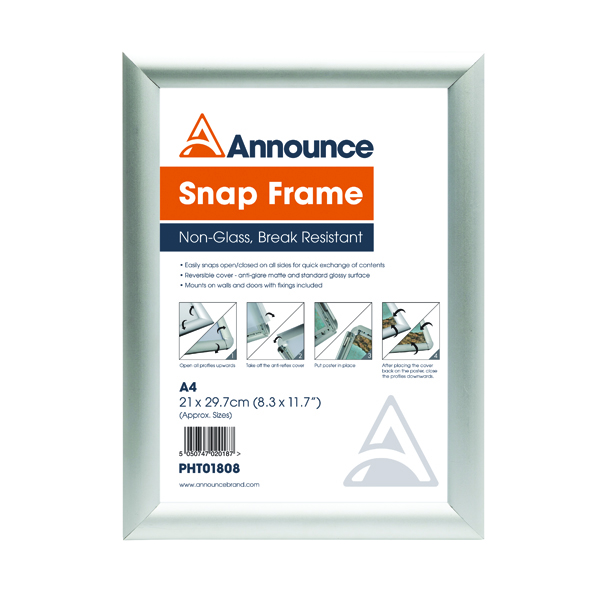 Image for Announce A4 Snap Frame