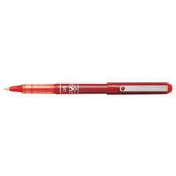 Pilot Red V-Ball Rollerball Pens 0.3mm (Pack of 12) BLVB5-02