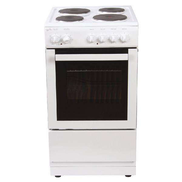 Statesman Single Cavity Electric Cooker - White 50cm Delta 50E