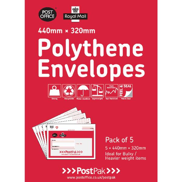 Polythene 440x320 Envelopes (Pack of 20)