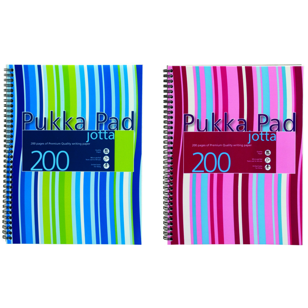 Pukka Jotta Wirebound A4 Notebook Polypropylene Feint Ruled With Margin 200 Pages (Pack of 3) JP018