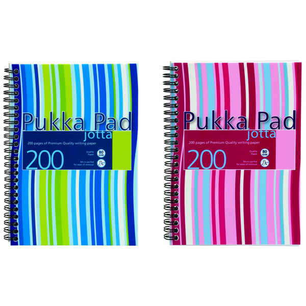 Pukka Jotta Wirebound A5 Notebook Polypropylene Feint Ruled 200 Pages (Pack of 3) JP021