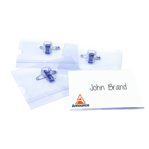 Combi Clip Name Badge 54x90mm (Pack of 50) 8009183