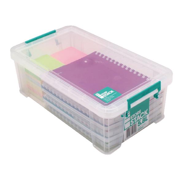 StoreStack 5.8 Litre Box Clear W350 x D190 x H120mm RB90122