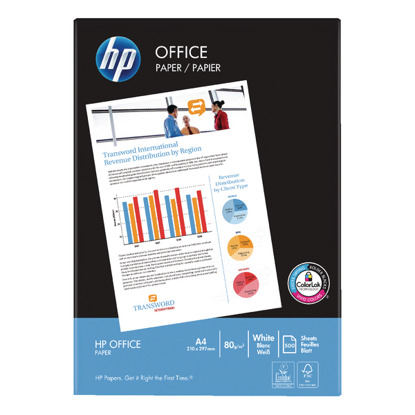 HP White Office A4 Paper 80gsm (Pack of 2500) HP F0317