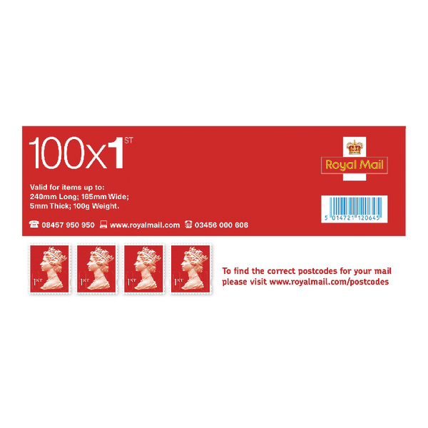 First Class Postage Stamps (Pack of 100) SDN1