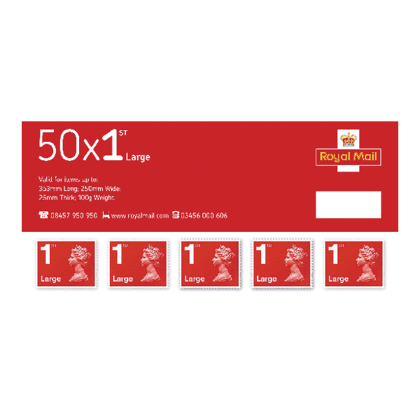 Image for First Class Large Letter Postage Stamps (Pack of 50) SLDN1