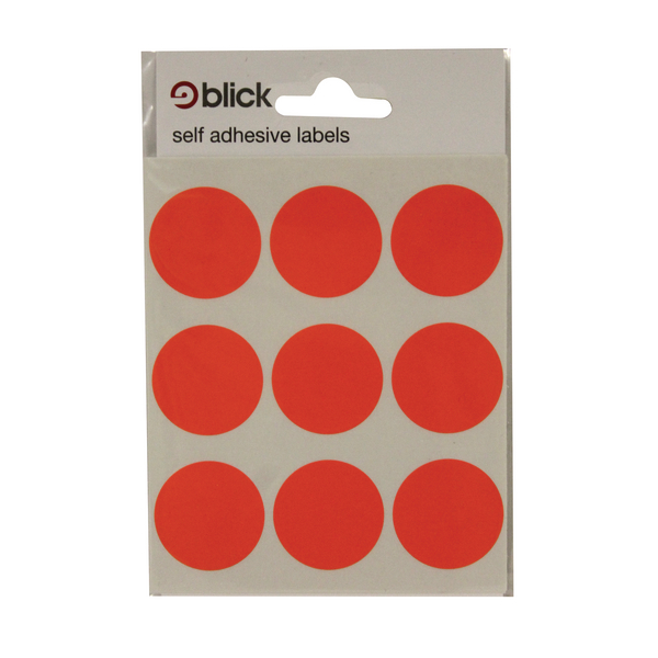 Blick Red Coloured Labels in Bags Round 29mm (Pack of 720) 5