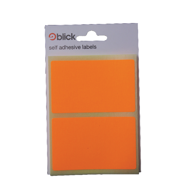 Blick Orange Fluorescent Labels in Bags 50x80mm (Pack of 160) RS010852