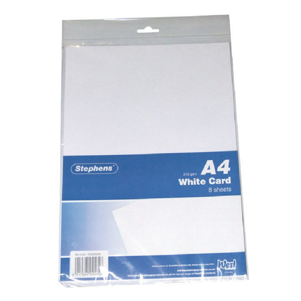 Image for Stephens White A4 Craft Card (Pack of 10) 6