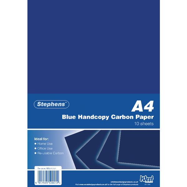 Image for Stephens Blue A4 Hand Carbon Paper (Pack of 100) RS520252