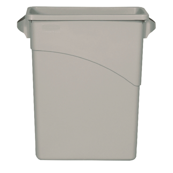 Rubbermaid Slim Jim Container 60 Litre Grey (Pack of 1) 3541-GRY/R001192