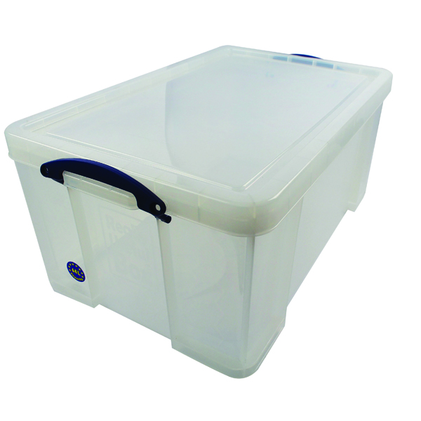 Really Useful Clear 64L Plastic Storage Box 710x440x310mm 64C