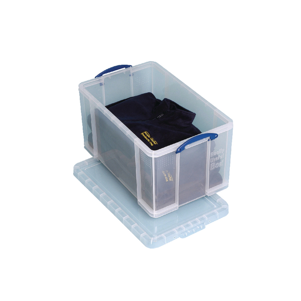 Really Useful Clear 84 litre Plastic Storage Box 84LC