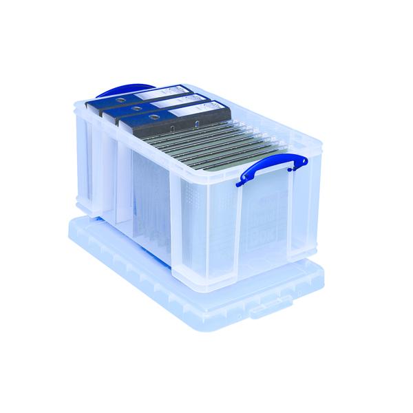 Really Useful Clear 48L Plastic Storage Box 600x400x310mm 48C