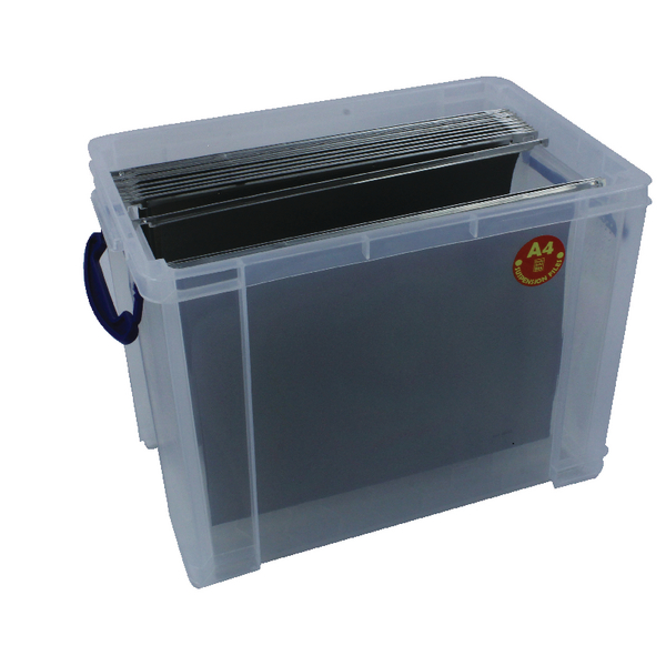 Image for Really Useful Clear 19 Litre Plastic Suspension File Box RUP80213