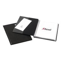 Rexel Nyrex Slimview A4 Black 36 Pocket Display Book 10035BK