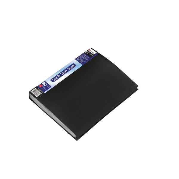 Rexel See and Store A4 20 Pocket Black Display Book 10555BK