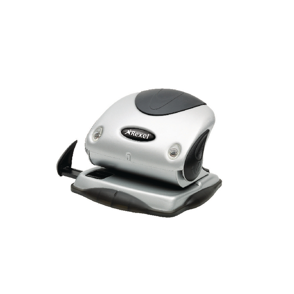 Rexel Precision P215 2 Hole Punch Black and Silver 15 Sheet 2100738