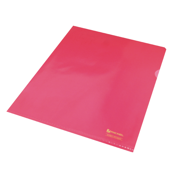 Rexel Nyrex A4 Red Cut Flush Folder (Pack of 25) 12161RD