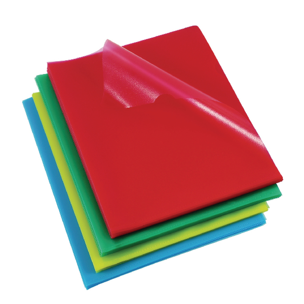 Rexel A4 Assorted Cut Flush Folders (Pack of 100) 12216AS