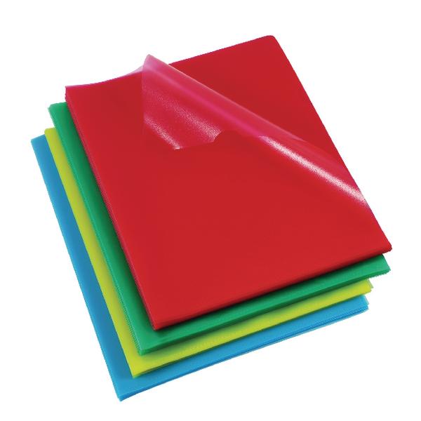 Rexel A4 Assorted Cut Flush Folders (100 Pack) 12216AS