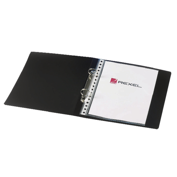 Rexel Budget 2 Ring Binder A5 25mm Polypropylene Black (10 Pack) 13428BK