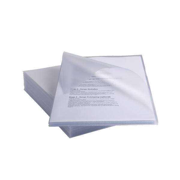 Rexel Anti Slip Cut Flush Folders Clear (Pack of 25) 2102211