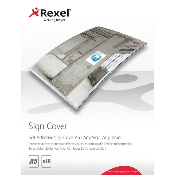 Rexel Self Adhesive Sign Cover A5