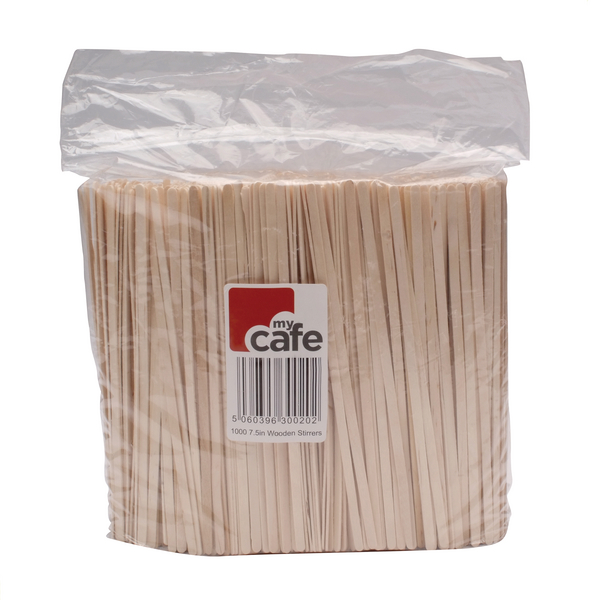 Wooden Coffee Stirrers (1000 Pack) 3842