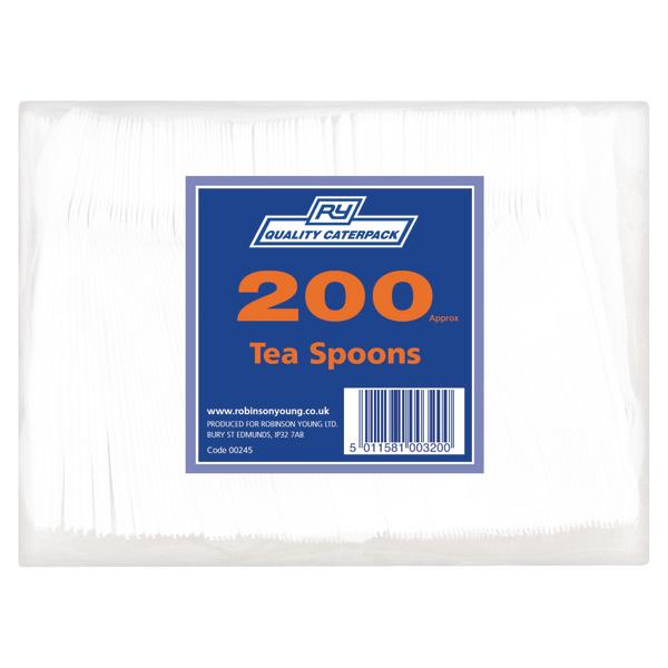 Plastic Teaspoons White Pk200 0245