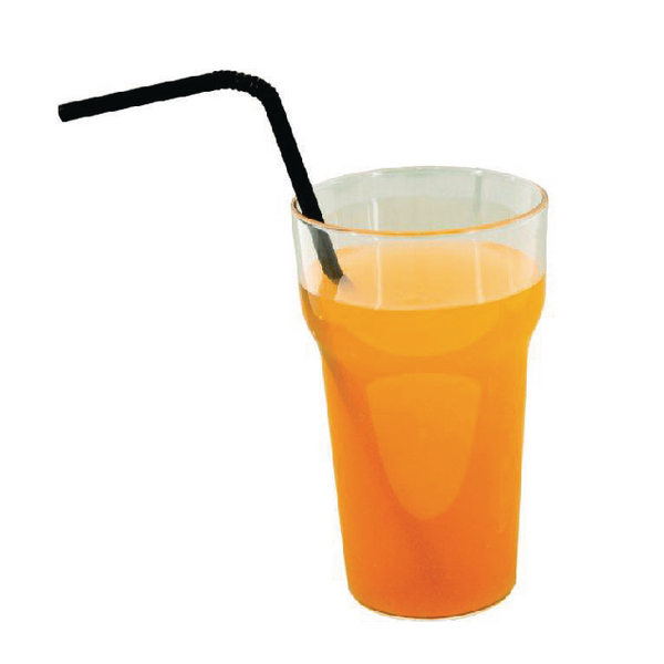 Caterpack Blk Flexi Straws Pk250