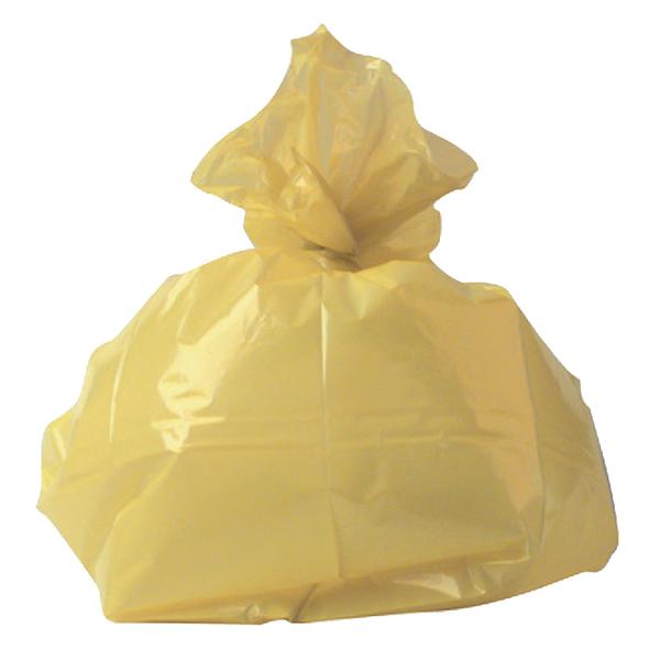 2Work Refuse Sack 100g Yellow (Pack of 200) CS001