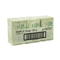 Simple Hand Soap Bars Wht 125G Pk6