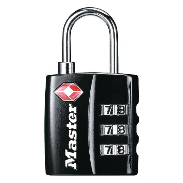 Master Lock Black 32mm TSA Combination Padlock 40054